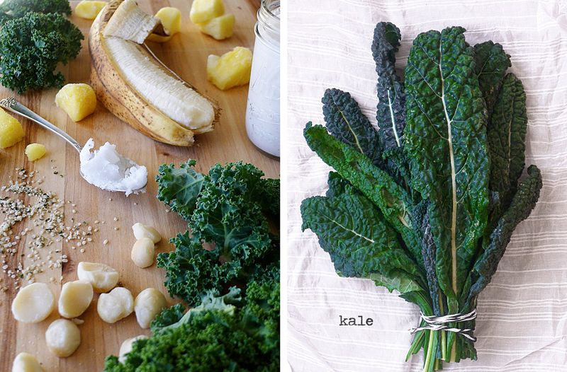 Ingredients and Kale