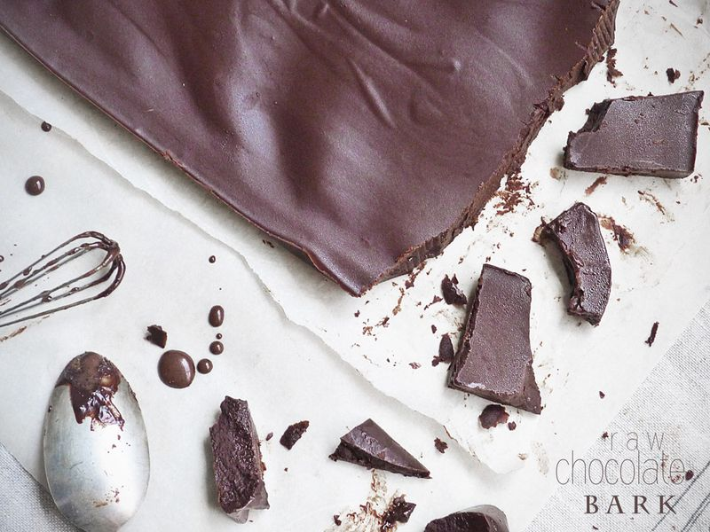 Raw Chocolate Bark Words